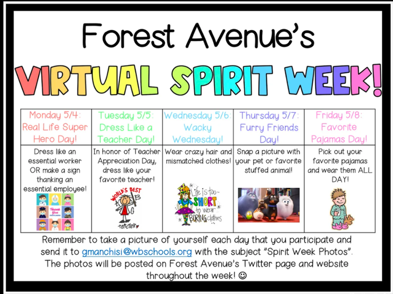 Please join us in celebrating Spirit Week!!!