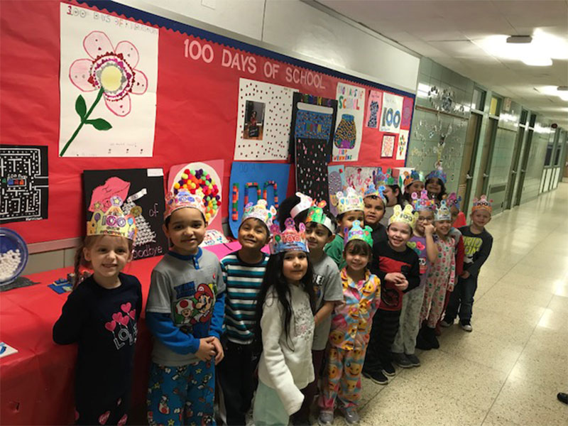 Tooker Celebrates 100 Days of Learning Fun