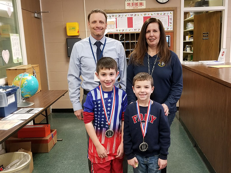 Second-Graders Take Second in Poster Contest