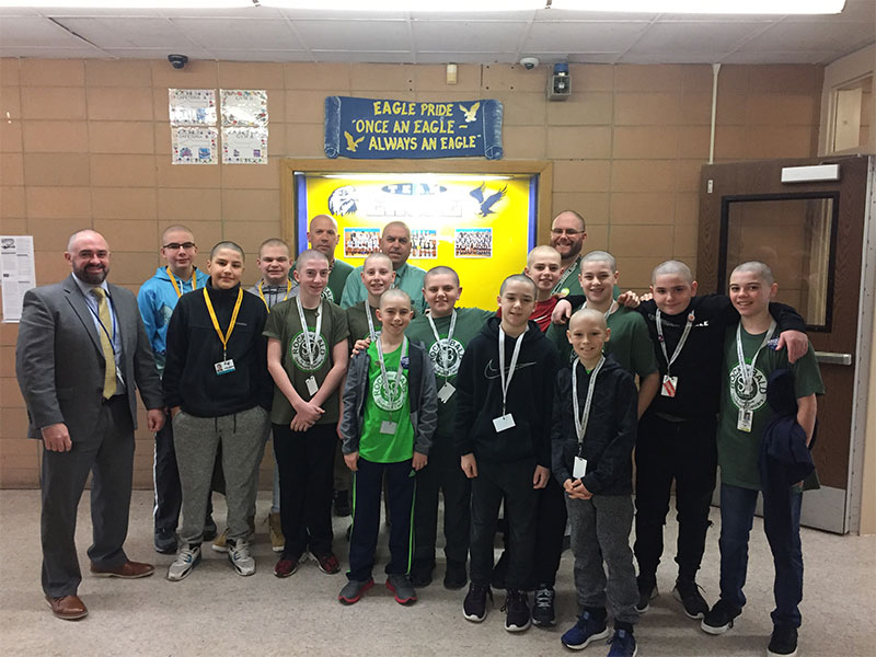 Eagles Go Bald for a Cause