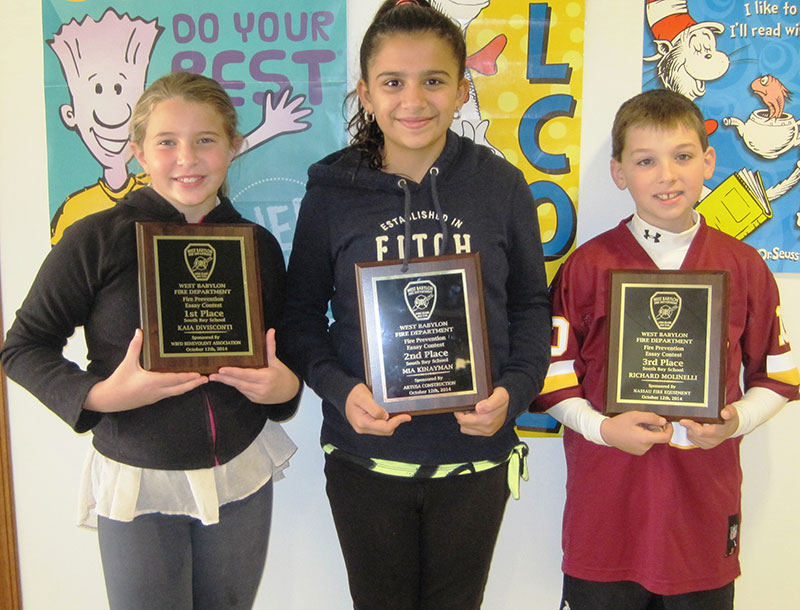 Fire Prevention Essay Winners