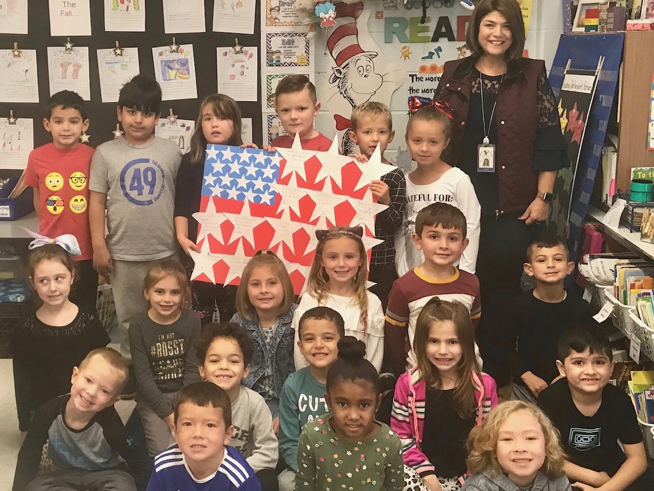 First Graders Show Their Gratitude on Veterans Day