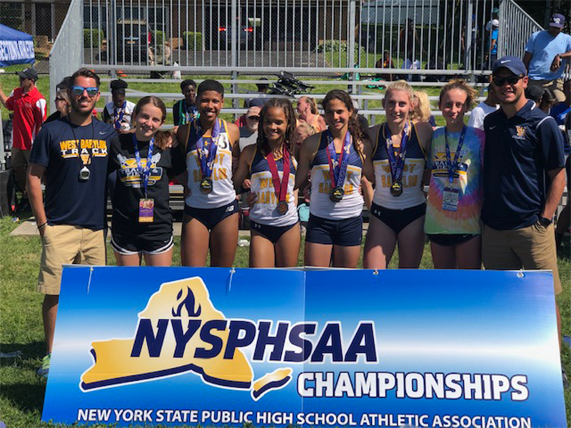 Girls Relay Team Finished Second in NYS