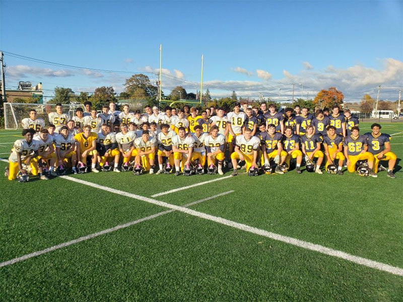 Football Team Joins Breast Cancer Fight