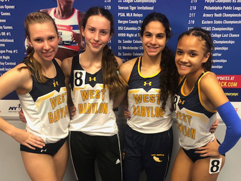 Girls Track Qualifies at Millrose Trials