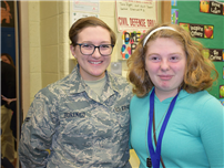 Soldier Surprise Shocks Seventh-Grader Pic