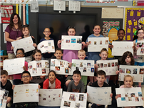 Tooker Second Graders Craft Timelines photo