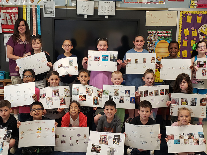 Tooker Second Graders Craft Timelines